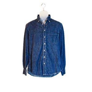Denim / Jean Land's End Button Down Shirt